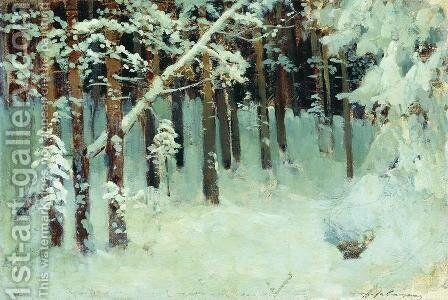 Forest in the winter by Isaak Ilyich Levitan - Reproduction Oil Painting