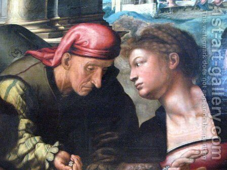 Parable of the Prodigal Son (detail) by Jan Sanders Van Hemessen - Reproduction Oil Painting