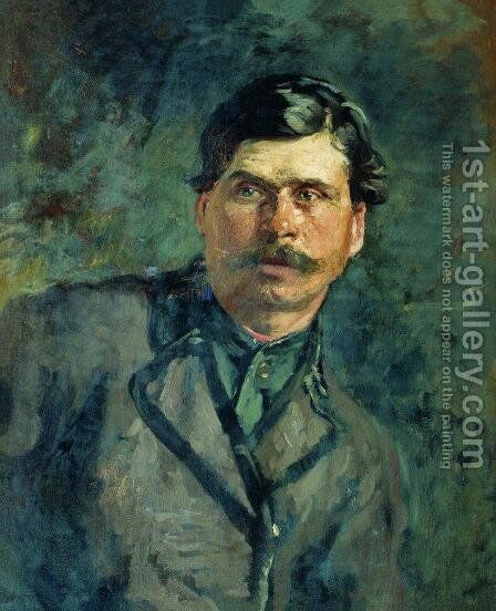 A soldier by Ilya Efimovich Efimovich Repin - Reproduction Oil Painting