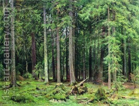 Forest in Mordvinovo by Ivan Shishkin - Reproduction Oil Painting