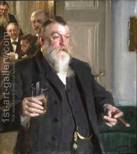 A Toast in the Idun Society by Anders Zorn - Reproduction Oil Painting