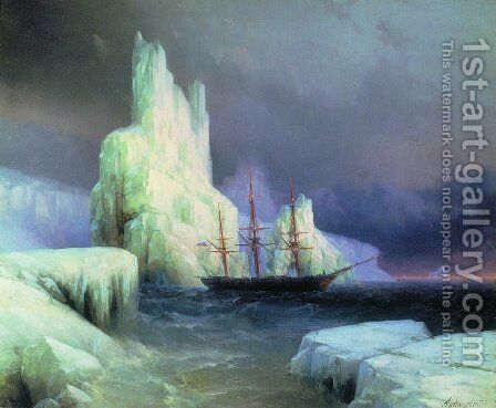 Icebergs in the Atlantic 2 by Ivan Konstantinovich Aivazovsky - Reproduction Oil Painting