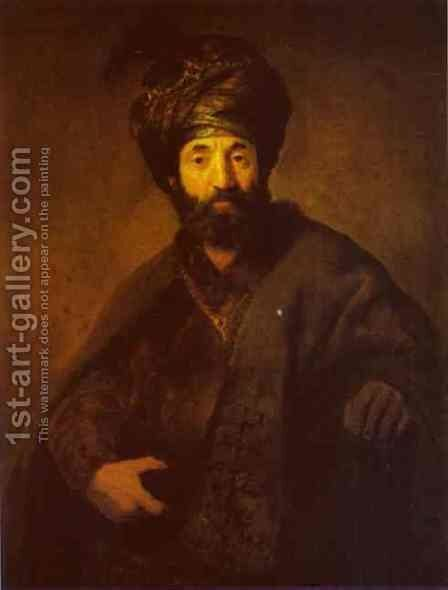 A Turk by Rembrandt - Reproduction Oil Painting
