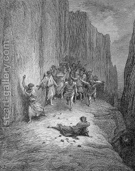 The Stoning of Stephen by Gustave Dore - Reproduction Oil Painting