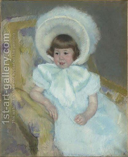 Portrait of Louise Aurora child Villeboeuf by Mary Cassatt - Reproduction Oil Painting