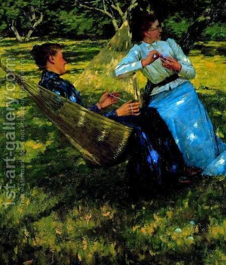 In the Orchard 2 by Henry Herbert La Thangue - Reproduction Oil Painting