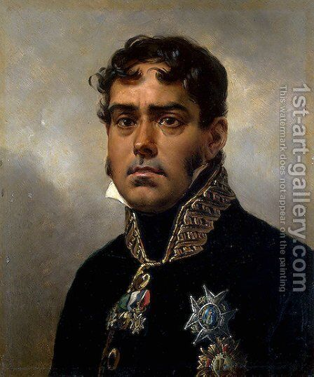 Portrait of General Pablo Morillo by Horace Vernet - Reproduction Oil Painting