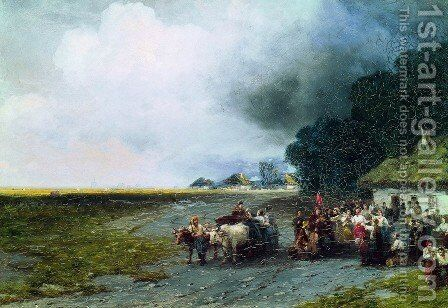 Wedding in Ukraine by Ivan Konstantinovich Aivazovsky - Reproduction Oil Painting