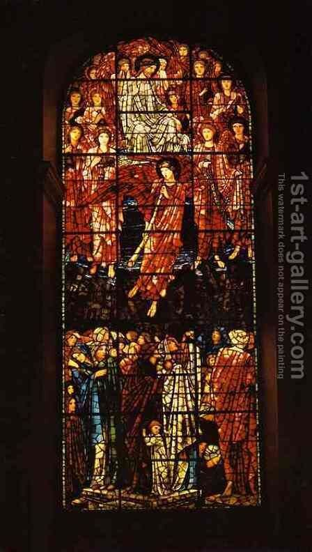 Last Judgement by Sir Edward Coley Burne-Jones - Reproduction Oil Painting