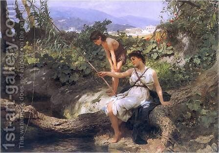 Fishing. A Scene from the Roman Life by Henryk Hector Siemiradzki - Reproduction Oil Painting