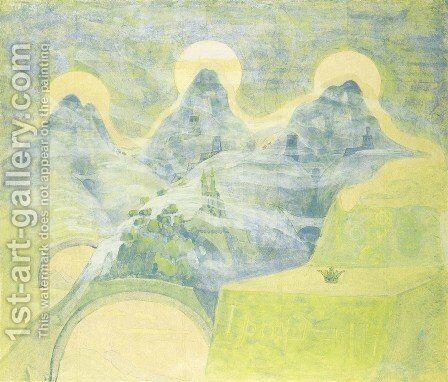 Finale (Sonata of the Serpent) by Mikolajus Ciurlionis - Reproduction Oil Painting