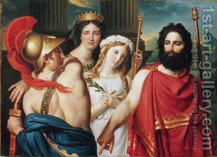 The Anger of Achilles by Jacques Louis David - Reproduction Oil Painting