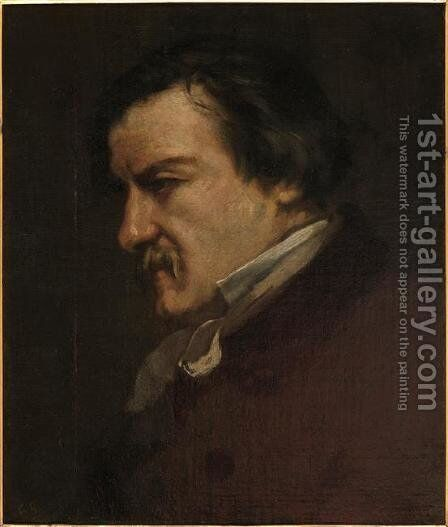 Portrait of Champfleury by Gustave Courbet - Reproduction Oil Painting