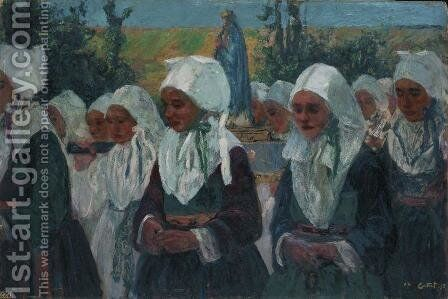 Procession by Charles Cottet - Reproduction Oil Painting