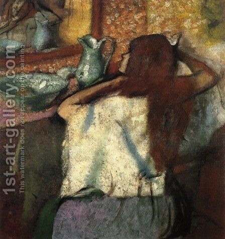 Woman at Her Toilette 3 by Edgar Degas - Reproduction Oil Painting