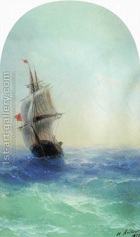 Stormy sea 2 by Ivan Konstantinovich Aivazovsky - Reproduction Oil Painting
