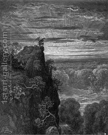 Paradise Lost by Gustave Dore - Reproduction Oil Painting