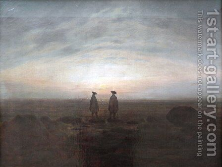 Two Men by the Sea by Caspar David Friedrich - Reproduction Oil Painting