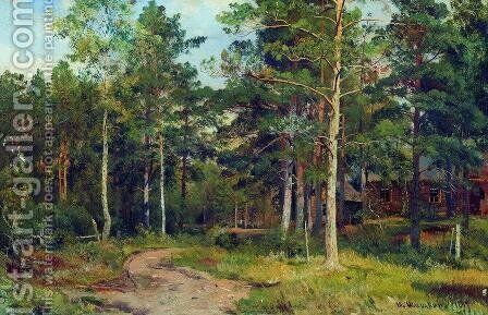 Autumn landscape. Path in the forest by Ivan Shishkin - Reproduction Oil Painting