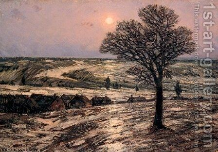 Moonlight, Waning Winter by Homer Watson - Reproduction Oil Painting