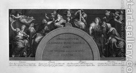 The Marriage of Alexander and Rossana by Giovanni Battista Piranesi - Reproduction Oil Painting