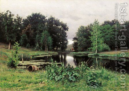 Landscape with a Pond by Efim Efimovich Volkov - Reproduction Oil Painting