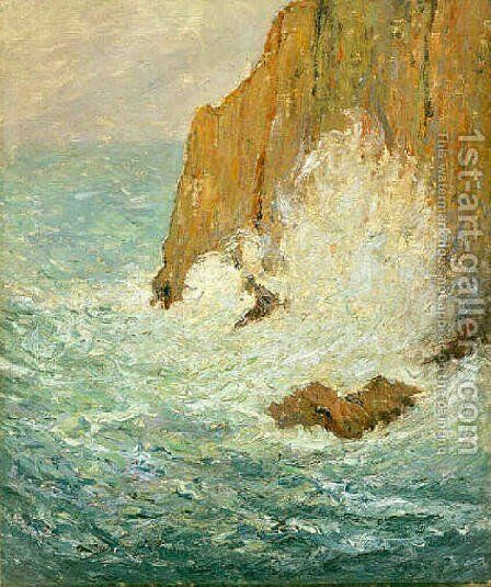 Great Sea by Maxime Maufra - Reproduction Oil Painting