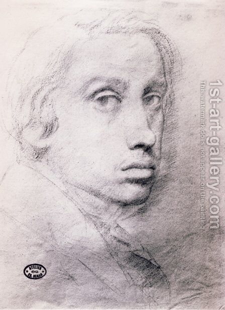 Study for the Self Portrait by Edgar Degas - Reproduction Oil Painting