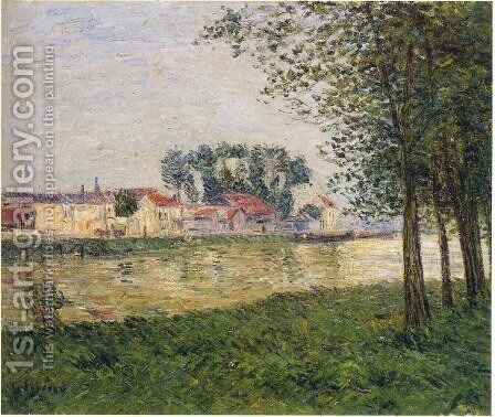 By the Oise at Parmain by Gustave Loiseau - Reproduction Oil Painting