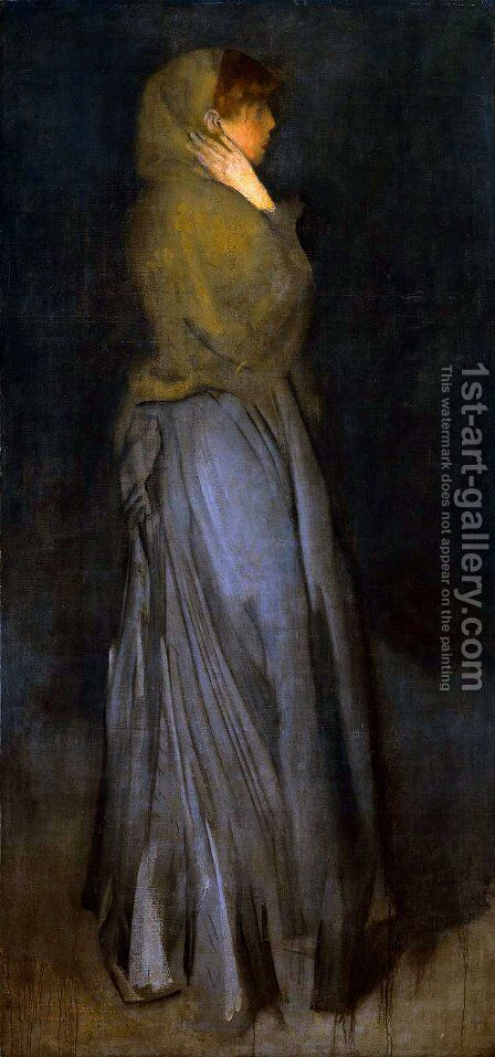Arrangement in Yellow and Grey by James Abbott McNeill Whistler - Reproduction Oil Painting