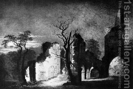 West facade of the ruins of Eldena by Caspar David Friedrich - Reproduction Oil Painting