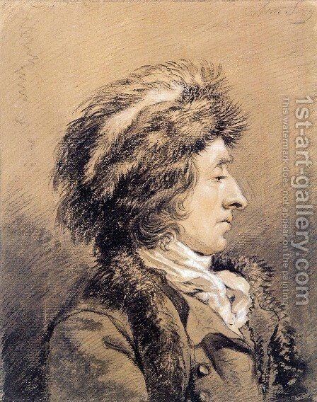 Man with fur hat by Abraham van, I Strij - Reproduction Oil Painting