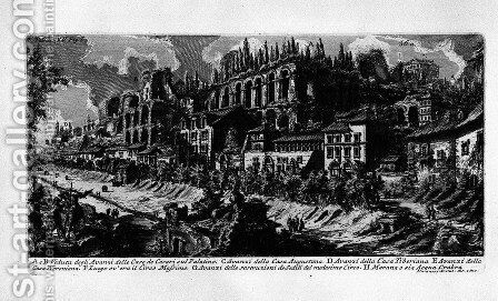 The Roman antiquities, t. 1, Plate XXXV by Giovanni Battista Piranesi - Reproduction Oil Painting
