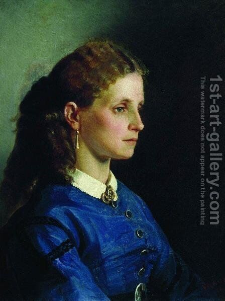Portrait of Yanitskaya by Ilya Efimovich Efimovich Repin - Reproduction Oil Painting