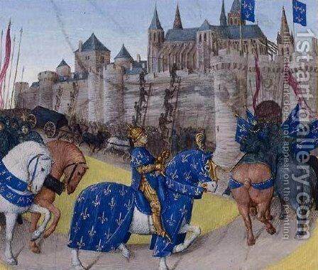 Taken in Tours in 1189 by Jean Fouquet - Reproduction Oil Painting