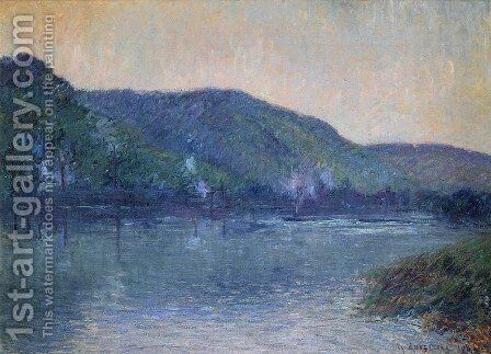 Boats on the Seine at Oissel by Gustave Loiseau - Reproduction Oil Painting