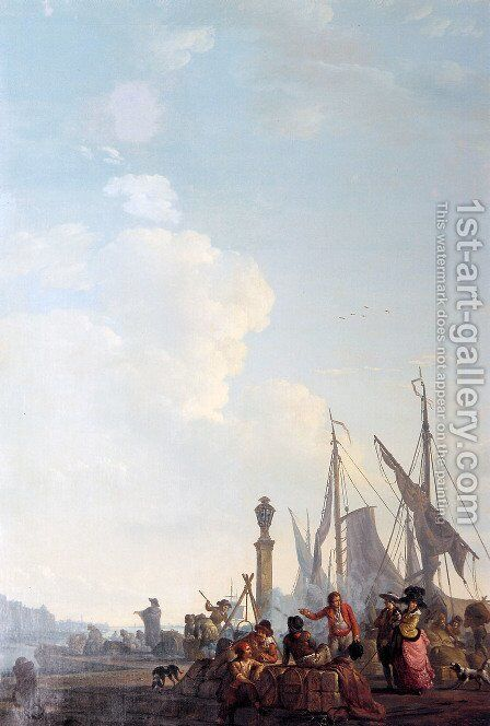 The foreign trade by Abraham van, I Strij - Reproduction Oil Painting