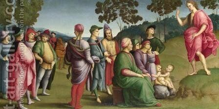 Saint John the Baptist Preaching by Raphael - Reproduction Oil Painting