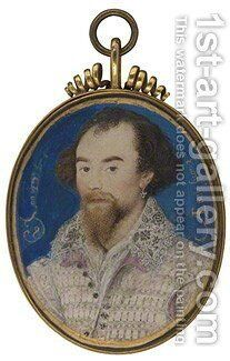 George Clifford, 3rd Earl of Cumberland by Nicholas Hilliard - Reproduction Oil Painting