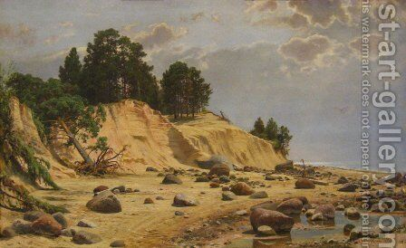 After a storm in Mary-Howe by Ivan Shishkin - Reproduction Oil Painting