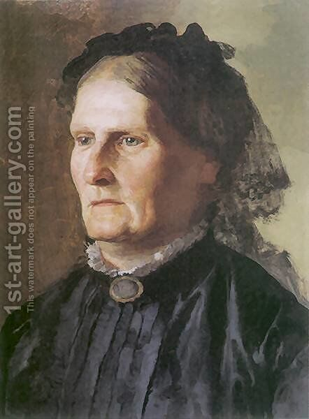 Portrait of a mother of Henry Siemiradzki by Henryk Hector Siemiradzki - Reproduction Oil Painting
