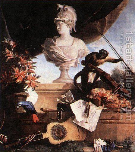Allegory of Europe by Jean-Baptiste Oudry - Reproduction Oil Painting