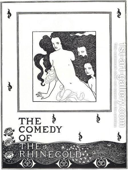 The Comedy of the Rhinegold, frontispiece by Aubrey Vincent Beardsley - Reproduction Oil Painting