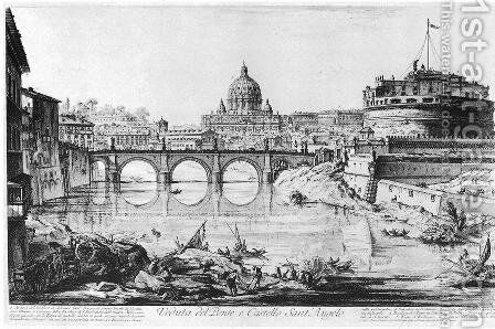 Vedute di Roma 25 by Giovanni Battista Piranesi - Reproduction Oil Painting