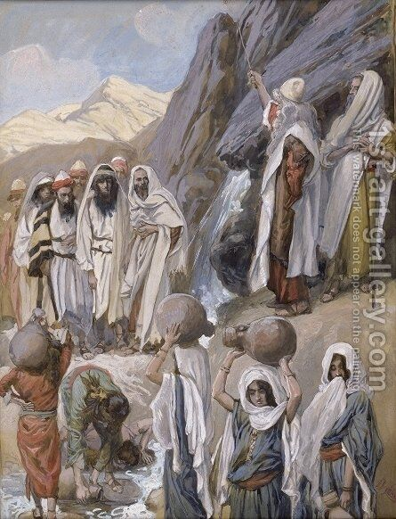 Moses Strikes the Rock by James Jacques Joseph Tissot - Reproduction Oil Painting