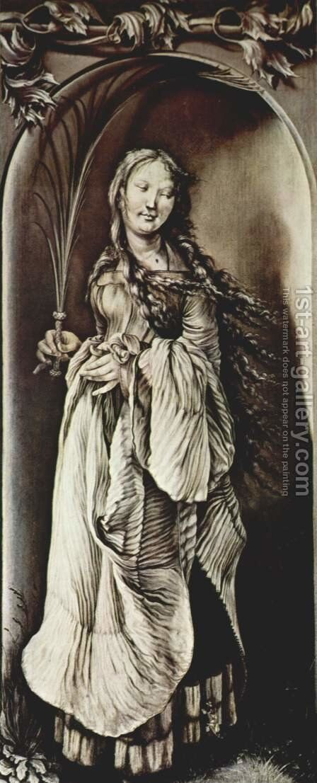 St. Lucy (c.283-c.304) by Matthias Grunewald (Mathis Gothardt) - Reproduction Oil Painting