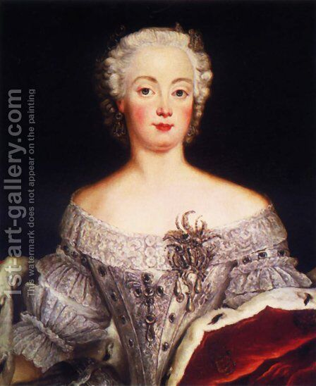 Elisabeth Christine by Antoine Pesne - Reproduction Oil Painting