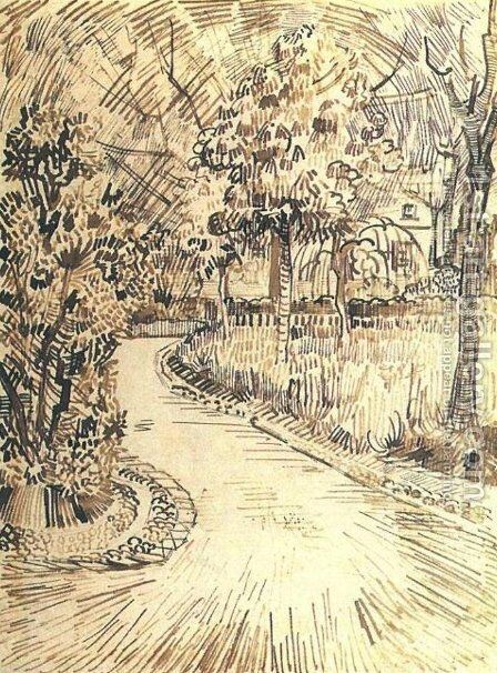 Public Garden with a Corner of the Yellow House by Vincent Van Gogh - Reproduction Oil Painting