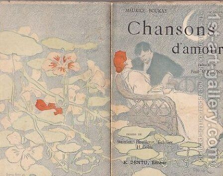 Chansons d'Amour by Theophile Alexandre Steinlen - Reproduction Oil Painting