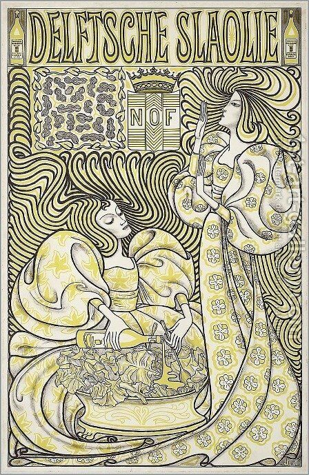 Delft Salad Oil by Jan Toorop - Reproduction Oil Painting